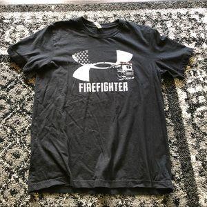Black UNDER ARMOUR firefighter men's shirt